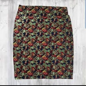 Lularoe Cassie Pencil skirt 3XL nwot floral fall